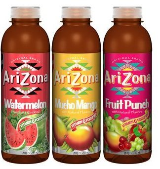 Arizona Fruit Juice Cocktail Variety Pack, 20 Oz Bottle (Pack of 12)