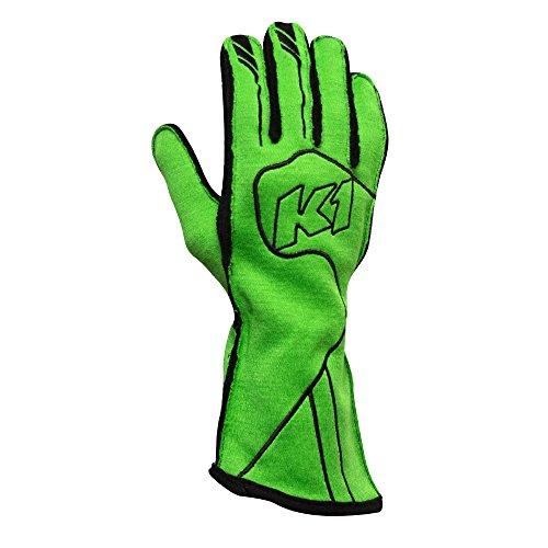 K1 RaceGear 23-CHP-FV-L Champ Auto Racing Nomex Gloves - SFI 3.3/5 Premium Auto Racing (Line Double Layer Suit)