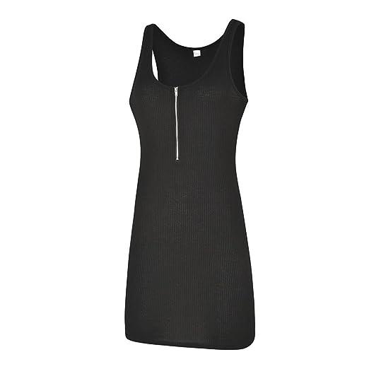 Beikoard Liquidación,Vestidos Mujer Verano 2018,faldas de mujer cortas,Chaleco de la señora falda vestido de cremallera (XL, negro): Amazon.es: Instrumentos ...