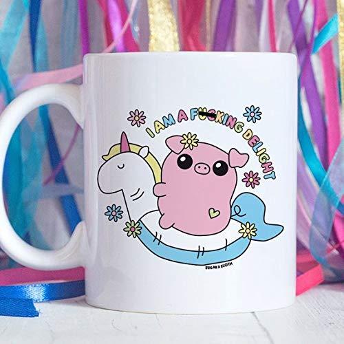 Amazon com: I'm a F*cking Delight Mug, Funny Girlfriend