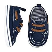 Carter's Boys' Boat Shoe, Navy, 0-3 Months, Size 1 Regular US Infant