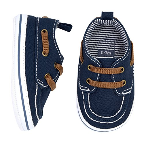 Carter's Boys' Boat Shoe, Navy, 3-6 Months, Size 2 Regular US Infant ()