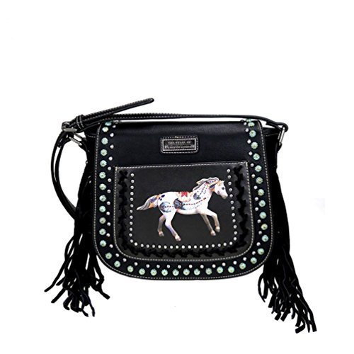 TPP02-8360 The Trail of Painted Ponies Collection Saddle (Equestrian Saddlebag)