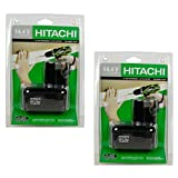 Hitachi EB1414S 324367 14.4V NiCad Electronic Battery Pack, 1.4-Amp Hour, Pack of 2 (Black)
