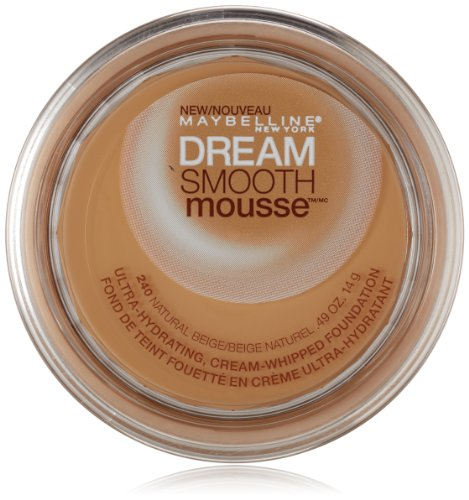 Maybelline New York Dream Smooth Mousse Foundation, Natural Beige, 0.49 (Smooth Natural)