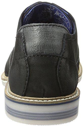 Bugatti F75241g, Zapatos de Cordones Derby para Hombre Negro (Schwarz 100)