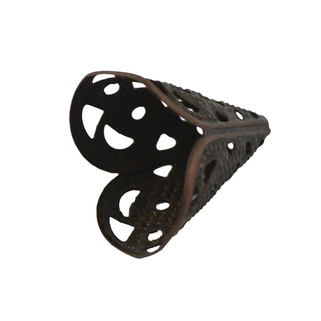 Flameer 100 Pcs Retro Copper /& Black Alloy Flower Bead Caps Beads Cone Cap Cover Bead Tips for Jewelry Making