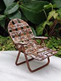 Miniature Dollhouse Fairy Garden Sea Beach Lake Rustic White Metal Lawn Chair