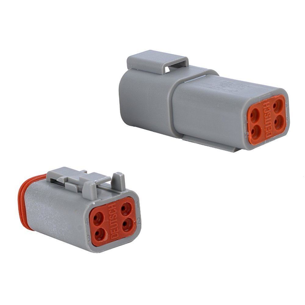 MUYI 10 Kit 4 Pin Way DT Series Connector Gray Receptacle IP67 Waterproof Heavy Duty 14-20 AWG 13 Amps Continuous DT04-4P DT04-4S w/Wedge Lock W4P W4S (10 Kits, 4 Pin) by MUYI (Image #3)