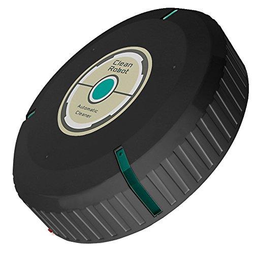 Deebot Robotic Vacuum, YJM Intelligent Robotic Vacuum Cleaner Automatic Mini Sweeping Machine, Robotic Vacuum Cleaner with Strong Suction (Black)