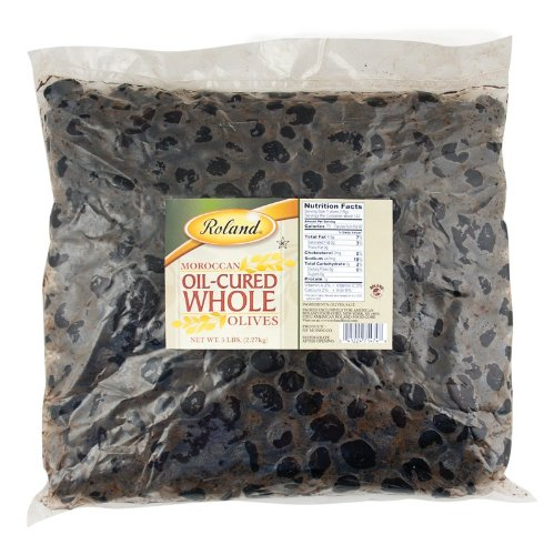 Olives Black Pitted Medium (Roland Olives, Moroccan Oil-Cured Whole, 5 Pound)