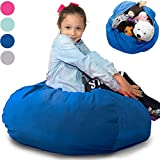Large Stuffed Animal Storage Bean Bag 'Soft 'n Snuggly' Corduroy Fabric Kids Prefer Over Canvas - Replace Mesh Toy Hammock or Net - Store Blankets/Pillows Too - 4 Colors