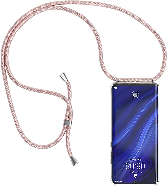 YuhooTech Collier pour Huawei P20 Pro Coque /étui de t/él/éphone avec Cordon Housse pour Smartphone Lanyard Case Holder Cover Necklace Bandouili/ère Styl/ée Tour de Cou Lani/ère en Corde
