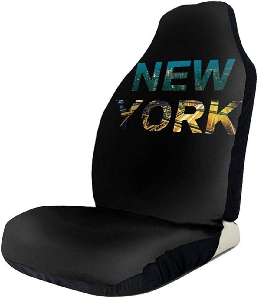 pinhanzhuangshi Housses De Si/ège De Voiture Avant Universelle Le Si/ège De Voiture De New York Couvre Le Protecteur 2 Pcs pour Le V/éhicule SUV De Camion DAutomobile