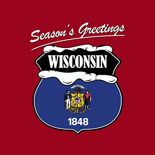 Seasons Hooded Women's Christmas Red Sweatshirt Wisconsin Coto7 Greetings Cherry A1q1wB