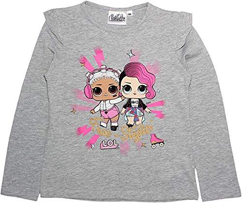 Camiseta LOL SURPRISE Manga Larga Ni�a Sorpresa 100% Algod�n Gris