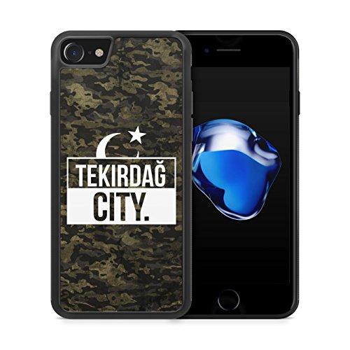 Tekirdag City Camouflage - Hülle für iPhone 7 SILIKON Handyhülle Case Cover Schutzhülle Hardcase - Türkische Türkce Turkish Türkei Türkiye Turkey Türk Asker Militär Military Design
