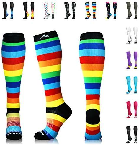 NEWZILL Compression Socks (20-30mmHg) for Men & Women - Best Stockings for Running, Medical, Athletic, Edema, Diabetic, Varicose Veins, Travel, Pregnancy, Shin Splints.