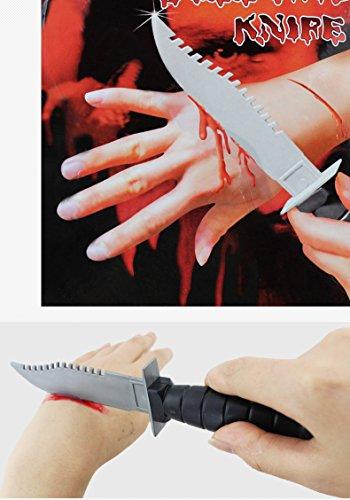 Toonol Halloween Props Entire Toy Weapons Spoof Horror Scary Bloody Bayonet Bloody Knife Halloween (Typewriter Halloween Costume)