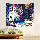 Mexidi Happey Halloween Tapestry Wall Hangings Wall Blanket Art Dorm Shawl Beach Towel Throw Tapestry Decor Bedspread Bedroom Living Kids Girls Boys Room Dorm Accessories (I, 59x79 inch)