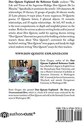 Don Quixote Explained Reference Guide: Character