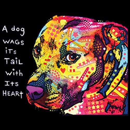 Pitbull / Shoulder Bag / Bag Look Vintage Con Stampa Neon Neon: Gratitudine Pitbull Per Gli Amanti Dei Cani