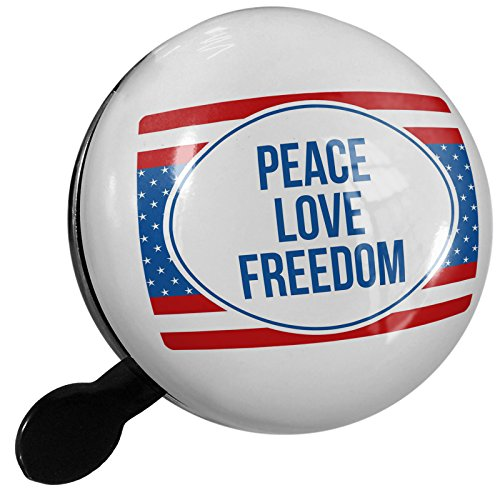 Small Bike Bell Peace Love Freedom Fourth of July Red, White, And Blue - NEONBLOND by NEONBLOND