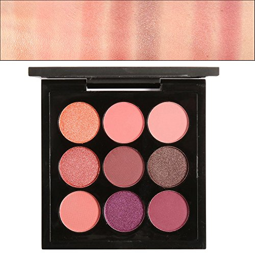 Matte Eyeshadow Palette Cosmetic Kit Hosamtel Retro 9 Colors Nature Highlighter Charming Smoky Eye Shadow Set Eyeshadow Primer Makeup Tool (01#)