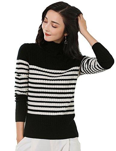 Black And White Argyle Sweater - 6