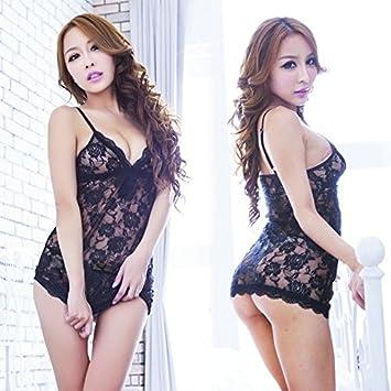 Amazon.com   Ocely Women s Alluring Transparent Lace Sexy Braces ... b15210c33
