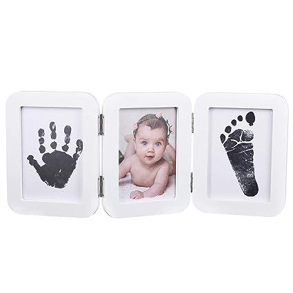 Partykindom - Kit de huellas y marco de fotos para bebé con ...