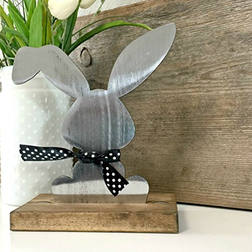 - Spring Easter Rabbit Bunny Modern Metal Farmhouse Style Decor