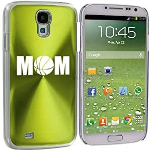 Samsung Galaxy S4 S IV i9500 Aluminum Plated Hard Back Case Cover Basketball Mom (Green)