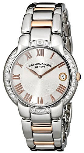 Raymond Weil Women's 5235-S5S-01658 Jasmine Diamond-Accented Two-Tone Watch with Link Bracelet