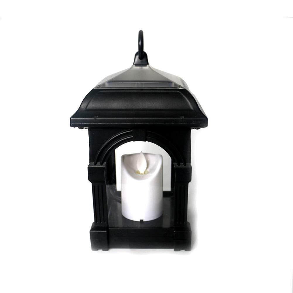 Tubwair LED Solar Mission Lantern, Vintage Waterproof Hanging Umbrella Lantern Candle Lights Led Clamp Beach Umbrella Tree Pavilion Garden Yard Lawn(Black)