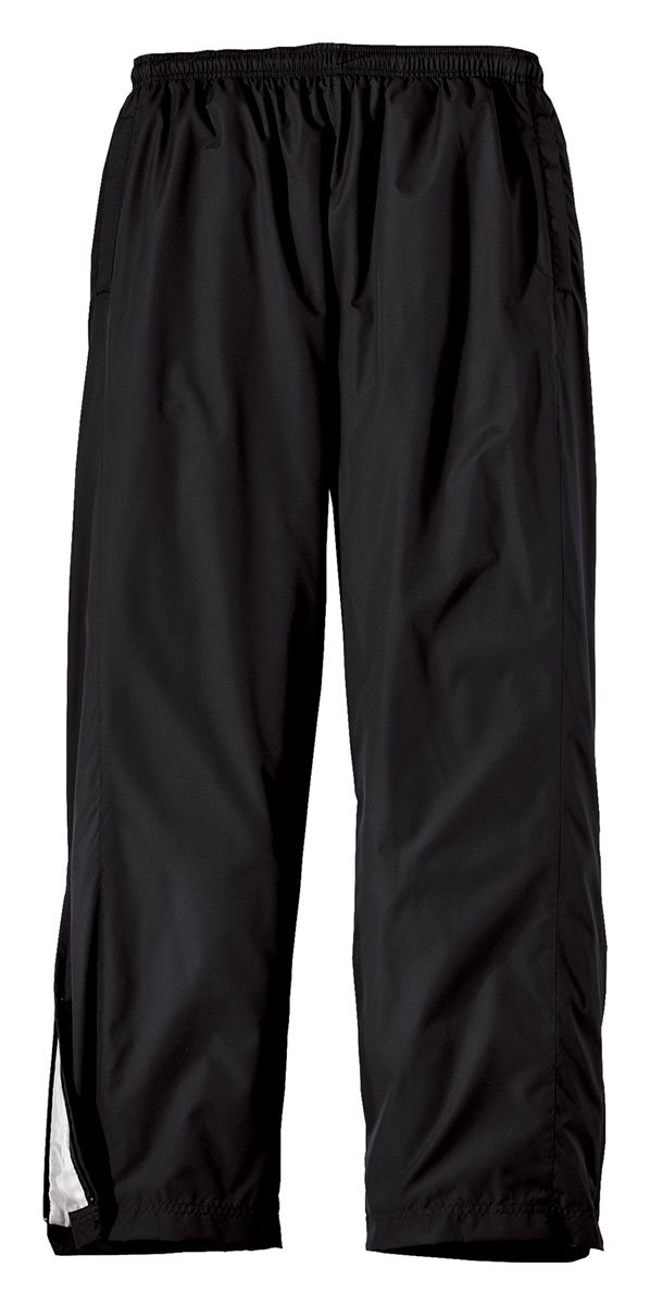 Sport-Tek Youth Wind Pant, Black, M by Sport-Tek