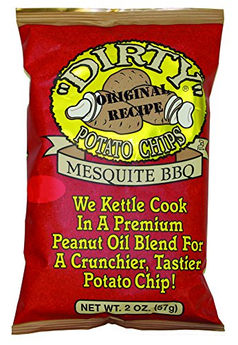 - Dirty Potato Chips, Mesquite BBQ, 2 Ounce (Pack of 25)