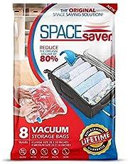 SpaceSaver 8x Premium de Voyage Roll Up Compression Sacs de Rangement pour valises–Pas Besoin de sous Vide–(4x Large, 4x Medium) 80% Plus de Stockage Que des Marques.