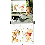 Disney Baby Sincerely Pooh Adjust and Lock Car Window Sunshade
