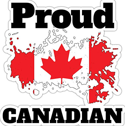 4 All Times Proud Canadian Automotive Car Decal for Cars, Trucks, Laptops (11.9