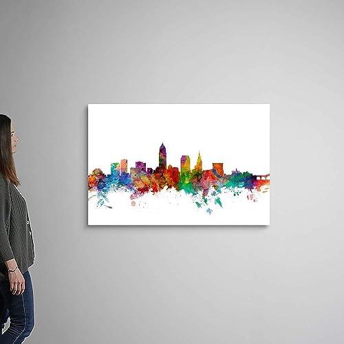 Cleveland Ohio Skyline Canvas Wall Art Print