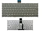 New Gray Laptop US Keyboard (Without Frame) Compatible Acer ultrabook Aspire One 725 756 AO725 AO756 S3 S3-951 Aspire MS2346 s5 s5-391 V5-171 TravelMate B113-E B113-M Series