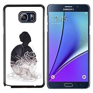 Jordan Colourful Shop - Wired Up For Samsung Note 5 N9200 N920 Personalizado negro cubierta de la caja de pl????stico
