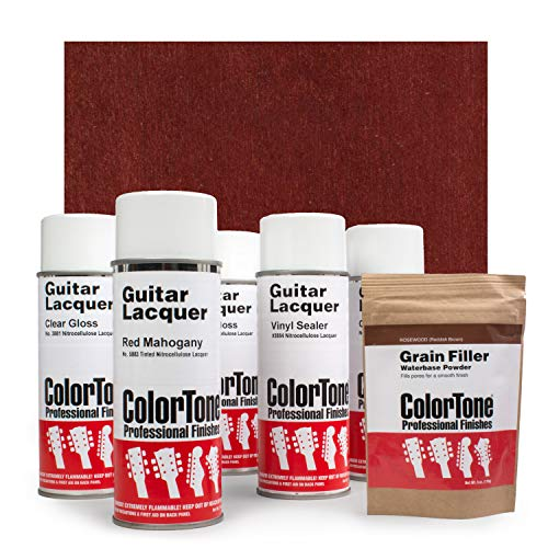 ColorTone Aerosol Finishing Set with Tinted Lacquer, Red Mahogany
