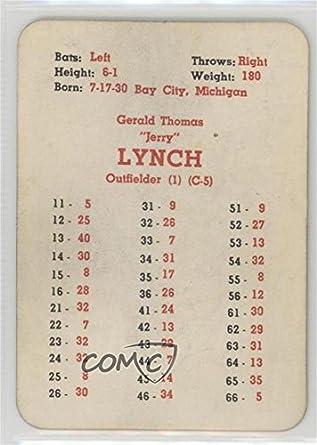 Amazoncom Jerry Lynch Baseball Card 1958 Apba Baseball