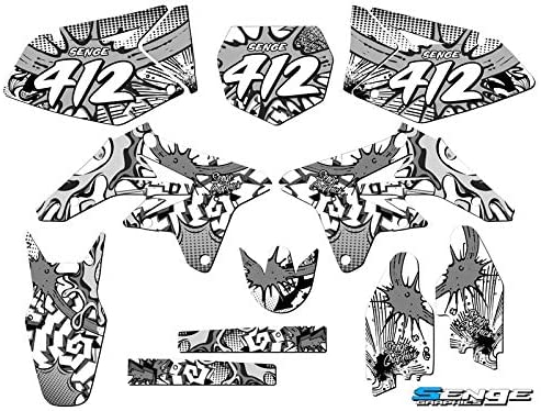 Compatible with Honda 2007-2020 CRF 150R Zany Pink CUSTOM Senge Graphics Kit
