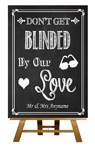 A4 pizarra gafas de sol Favor Cegado por el amor Vintage con ...