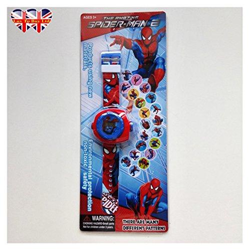 Spider-Man Watch for Children,Digital Projection Watch For Children,kids (Kids Fancy Dress Next Day Delivery)