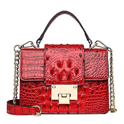 CCFAMILY Fashion Women Vintage Alligator Leather Crossbody Bags Messenger Bags handle bag (Mug Julep)