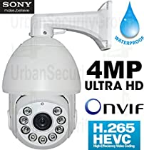 USG Business Grade H.265 4MP IP PTZ Speed Dome Security Camera : OmniVision Chip, 20x Optical Zoom 4.7-94mm Auto-Focus Lens, 9x IR LEDs, ONVIF 2.4, IP66 Weatherproof : Apple Android Phone Viewing